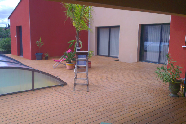 Terrasse en pin thermochauffé - Occia conception bois - Agde